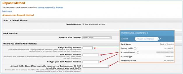 Payoneer填入银行账户信息