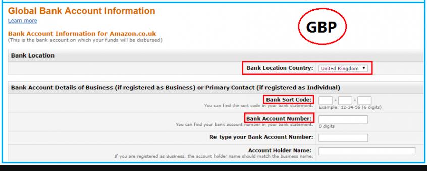 绑定英镑银行账户信息成功