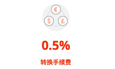 0.5%货币转换费