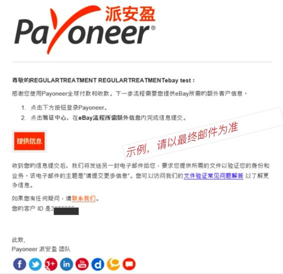 Payoneer邮件要求提交补充材料