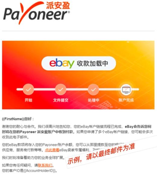 eBay管理支付服务激活成功